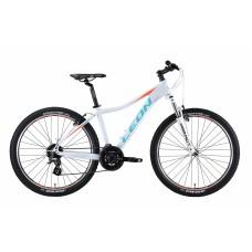 """Велосипед 26"""" Leon HT-LADY AM 14G Vbr алюминиевый 2019 (бело-голубой с оранжевым) LEON OPS-LN-26-045"""