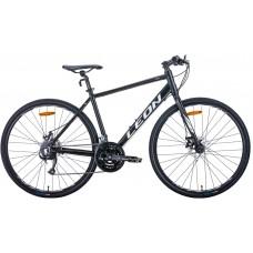 """Велосипед 28"""" Leon HD-80 2020 (черно-белый (м)) Leon OPS-LN-28-013"""