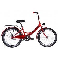 """Велосипед 24"""" Formula SMART с фонарём 2021 (вишневый) Formula OPS-FR-24-252"""