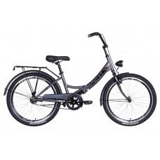 """Велосипед 24"""" Formula SMART с фонарём 2021 (серо-черный) Formula OPS-FR-24-251"""