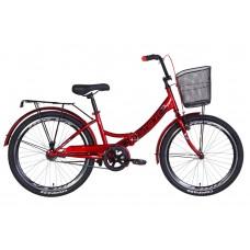 """Велосипед 24"""" Formula SMART с корзиной 2021 (вишневый) Formula OPS-FR-24-247"""