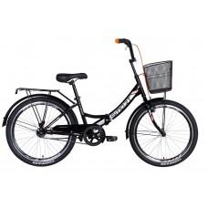 """Велосипед 24"""" Formula SMART с корзиной 2021 (черно-оранжевый) Formula OPS-FR-24-245"""