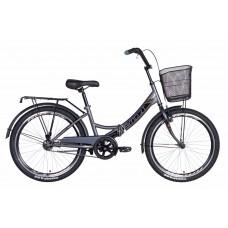 """Велосипед 24"""" Formula SMART с корзиной 2021 (серо-черный) Formula OPS-FR-24-246"""