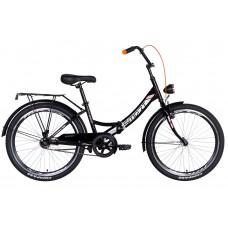 """Велосипед 24"""" Formula SMART с фонарём 2021 (черно-оранжевый) Formula OPS-FR-24-250"""