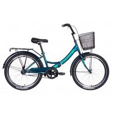 """Велосипед 24"""" Formula SMART с корзиной 2021 (малахитовый) Formula OPS-FR-24-243"""