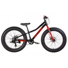 """Велосипед 24"""" Formula PALADIN 2021 (черно-красный с бирюзовым) Formula OPS-FR-24-296"""