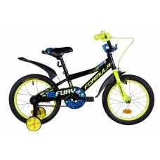 """Велосипед 16"""" Formula FURY 2021 (оранжево-черный с салатовым) Formula OPS-FRK-16-151"""