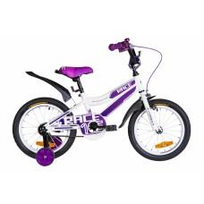 """Велосипед 16"""" Formula RACE 2021 (бело-фиолетовый) Formula OPS-FRK-16-140"""