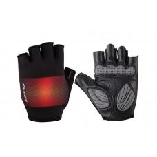 Перчатки велосипедные GUB Gradient с гелем черный с красным размер (черный с красным) CLO-065