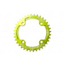 Велосипедная звезда-неспадайка к шатуну NW алюминиевые 32T круг BCD 104 SNAIL (зеленый) SPR-039