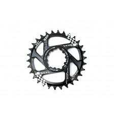 Велосипедная звезда-неспадайка к шатуну NW алюминиевые 32T GXP (SRAM) offset 6mm SNAIL (черный) SPR-061
