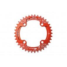 Велосипедная звезда-неспадайка к шатуну NW алюминиевые 32T круг BCD 104 SNAIL (красный) SPR-035