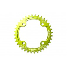 Велосипедная звезда-неспадайка к шатуну NW алюминиевые 34T круг BCD 104 SNAIL (зеленый) SPR-040
