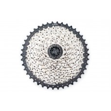 Велосипедная кассета SkilFul CS-G610 11-к 11-42T c ал. пауком, никелированная CAS-039