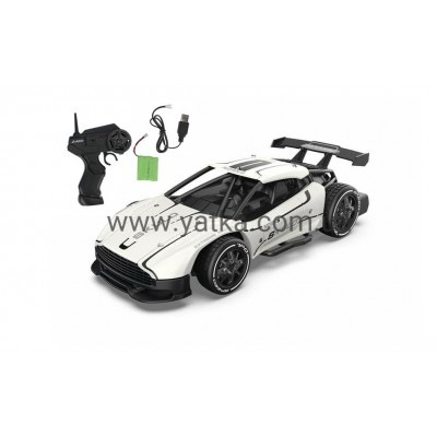 Машинка для ДРИФТА, задний привод на р/у 2,4GHz 1:24 Sulong на аккумуляторах Metal High Speed Car белый (SL-218AW)