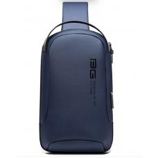 Сумка плечевая повседневная EDC слинг бананка рюкзак однолямочный Bange BG-7221 синий (bag-01b)
