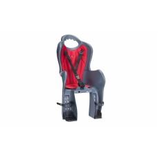 Велосипедное кресло детское Elibas P HTP design на багажник темно-серый с красным CHR-007-1