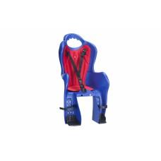 Велосипедное кресло детское Elibas P HTP design на багажник синий CHR-009-1