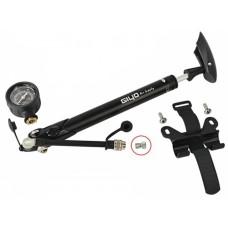 Велосипедный насос трансформер AV/FV для колес и вилок GIYO GS-41D с манометром (300psi) алюминиевый (серый) PUM-031