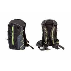 Рюкзак QIJIAN BAGS B-300 44х26х9cm черно-серо-зеленый BKP-000