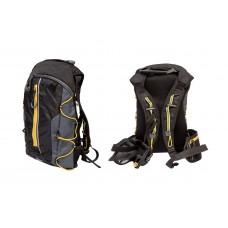 Рюкзак QIJIAN BAGS B-300 44х26х9cm черно-серо-желтый BKP-001