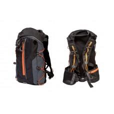Рюкзак QIJIAN BAGS B-300 44х26х9cm черно-серо-оранжевый BKP-002
