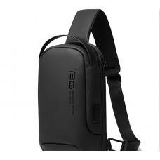 Сумка плечевая повседневная EDC слинг бананка рюкзак однолямочный Bange BG-7221 черный (bag-02b)