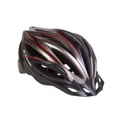 Шлем велосипедный с козырьком CIGNA WT-068 черно-красный (черно-красный) HEAD-018