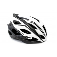 Шлем велосипедный с козырьком CIGNA WT-015 белый с черным HEAD-051