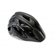 Шлем велосипедный с козырьком с габаритным фонарем LED CIGNA WT-088 черный HEAD-055