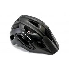 Шлем велосипедный с козырьком с габаритным фонарем LED CIGNA WT-088 черный HEAD-054