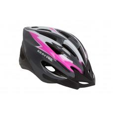 Шлем велосипедный HEL128 Bravvos размер М (черно-бело-розовый) HEAD-003