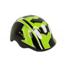 Шлем велосипедный детский HEL096 Bravvos (черно-салатный) HEAD-006
