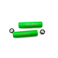 Велосипедные грипсы гелевые L130mm салатовый RISK Silica Gel GRI-226