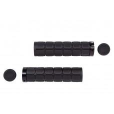 Велосипедные грипсы PVC L130mm с алюминиевым черным замком (черный) Velo HL-G219 GRI-193