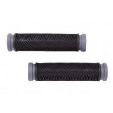 Велосипедные грипсы PVC L130mm черно-серый Velo HL-G127 GRI-196