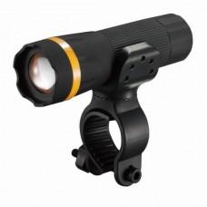 Велосипедный фонарь передний BC-FL1518 1w LED, питание батарейки 3хААА с универсальным креплением пластиковый VELO LTSS-035